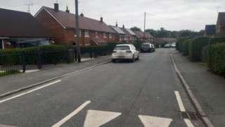 The child was struck on Ffordd Llanerch