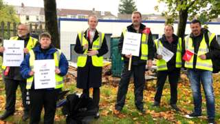 Stagecoach Wales bus drivers striking