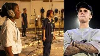 Justin Bieber and the NHS Choir
