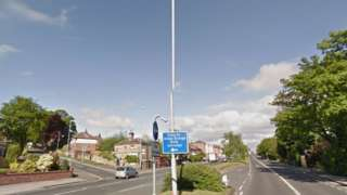 The junction on Stanningley Road - stock image
