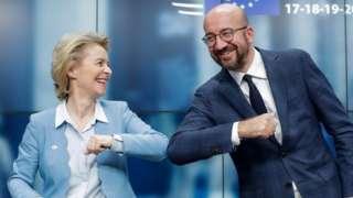 Президент Европейского совета Шарль Мишель и председатель Еврокомиссии Урсула фон дер Ляйен