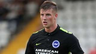 Ben Hall in action for Brighton during a pre-season game against Stevenage