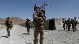 US troops in Logar province, July 2018