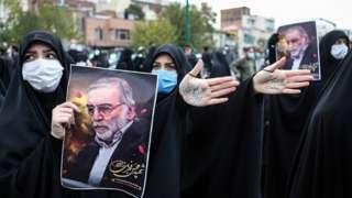 محسن فخری زادہ کا جنازہ