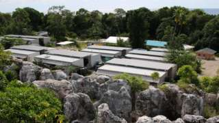 A refugee camp on the Pacific island of Nauru