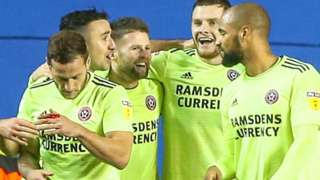 Sheffield United celebrate
