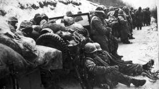 1950年美國海軍陸戰隊在長津湖戰役中