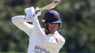 Keaton Jennings batting for Lancashire