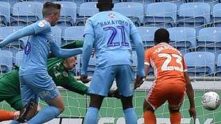 Jordan Shipley opened the scoring for Shrewsbury against Coventry