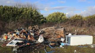 Fly-tipping in Ashford, Kent, 2019 (file image)