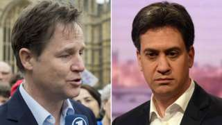 Nick Clegg and Ed Miliband