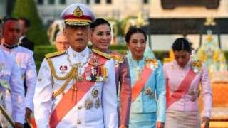 King Maha Vajiralongkorn attends an event commemorating the death of King Chulalongkorn in Bangkok on Wednesday