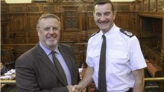 Mark Burns-Williamson and John Robins (right)