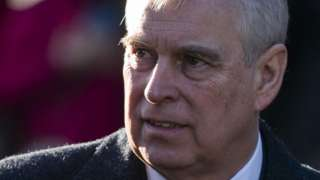 Prince Andrew in January 2020