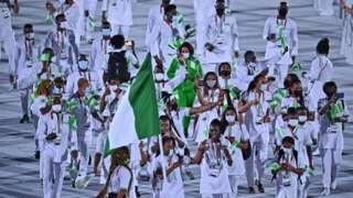 Team Nigeria parade