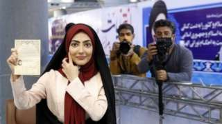 Iranian woman registers her candidacy in the presidential elections, in Tehran (14/05/21)