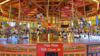 The carousel at Pleasure Island
