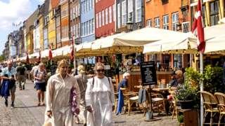 Tourists in Copenhagen