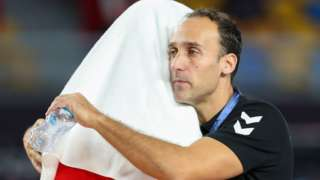 Egypt's Spanish handball coach Roberto Parrondo