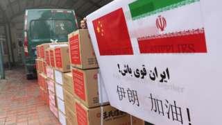 3月8日,江苏南通的中国医药公司向伊朗捐赠了防疫药品。