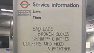 Tube whiteboard message