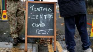 Testing centre sign in Liverpool