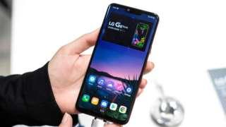 LG logo on smartphone