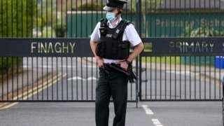 PSNI officer at bomb alert at Finaghy Primary school