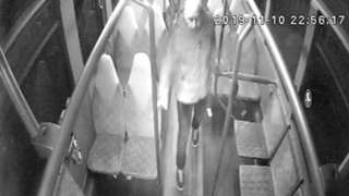 CCTV image captured on bus