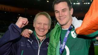 Ireland coach Joe Schmidt and fly-half Johnny Sexton