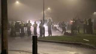 Police in Halton Moor area of Leeds