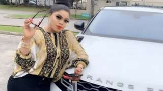 Bobrisky with her Range Rover