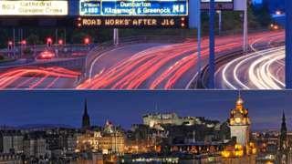 Glasgow and Edinburgh