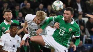 Northern Ireland lost to Austria