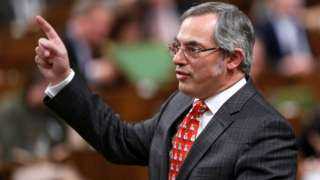 Canadian MP Tony Clement pictured in the House of Commons in Ottawa