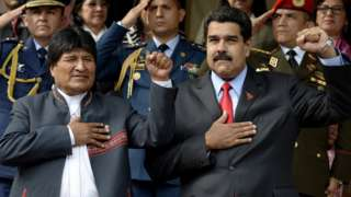 Morales y Maduro.