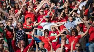 Welsh football fans