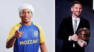 Ronaldinho ati Messi