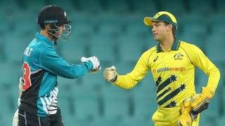 New Zealand's Trent Boult and Australia's Alex Carey