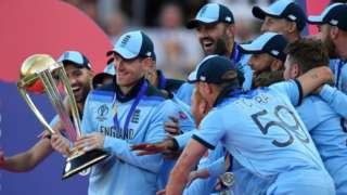 England cricketers celebrate