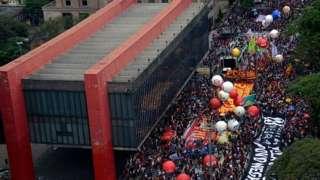 Manifestação contra Jair Bolsonaro no dia 2 de outubro de 2021