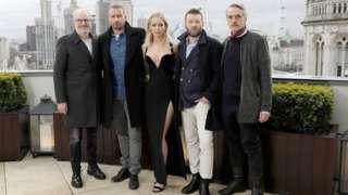 Francis Lawrence, Matthias Schoenaerts, Jennifer Lawrence, Joel Edgerton and Jeremy Irons.