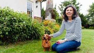 Helen Bailey and her dog