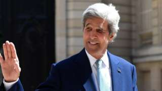 File picture of former US Secretary of State John Kerry