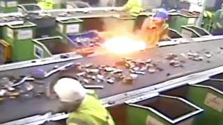 An explosion caused by a lithium-ion battery at a recycling plant