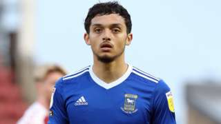 Andre Dozzell in action for Ipswich Town