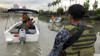 Coast guard patrols on the Pasig River