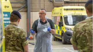 Army helping the East of England Ambulance Service