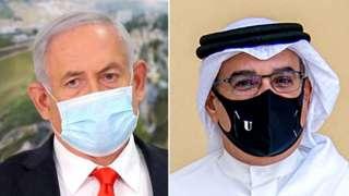 اسرائیل کے وزیراعظم نتن یاہو اور بحرین کے ولی عہد شہزادہ سلمان بن حمد الخلیفہ