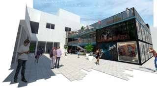 CGI image of the building
